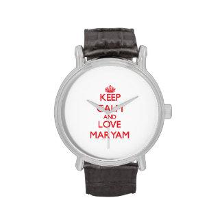 Keep Calm and Love Maryam Wristwatch