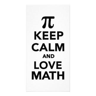 Keep calm and love Math Pi Photo Card Template