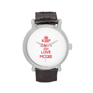 Keep calm and love Mcgee Watches