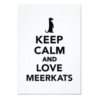 Keep calm and love meerkats custom invitation