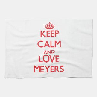 Keep calm and love Meyers Tea Towel