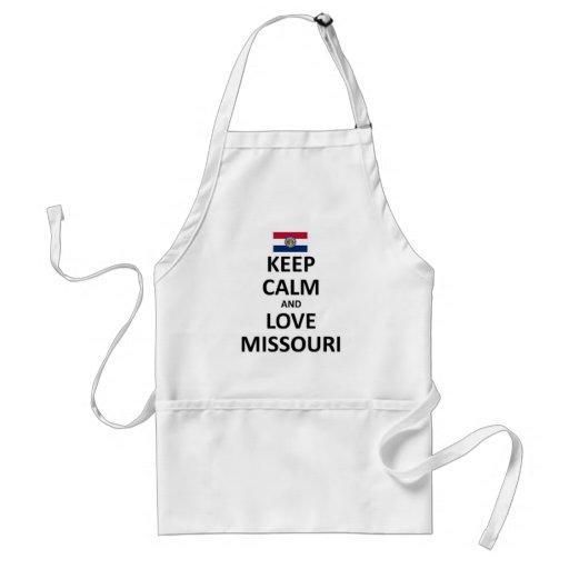 keep calm and Love Missouri.jpg Standard Apron