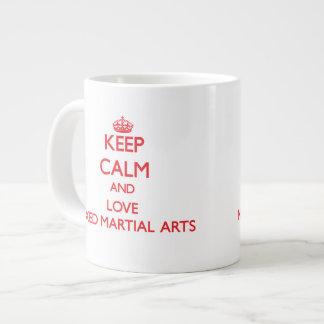 Keep calm and love Mixed Martial Arts Jumbo Mugs