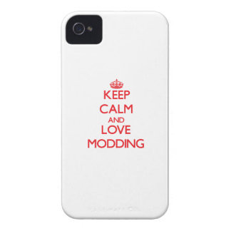Keep calm and love Modding Case-Mate iPhone 4 Cases