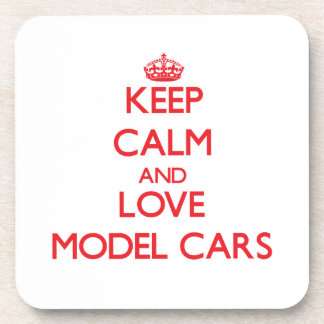 Keep calm and love Model Cars Beverage Coaster