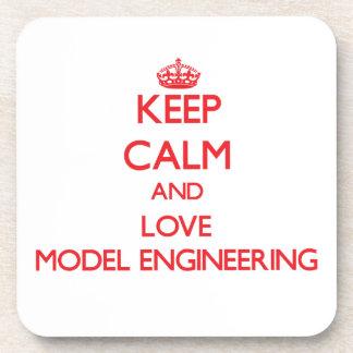 Keep calm and love Model Engineering Beverage Coasters