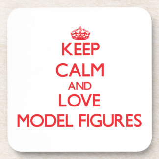 Keep calm and love Model Figures Beverage Coaster
