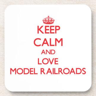 Keep calm and love Model Railroads Coasters