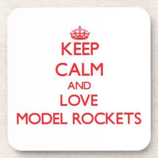 Keep calm and love Model Rockets Coaster