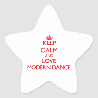 Keep calm and love Modern Dance Stickers