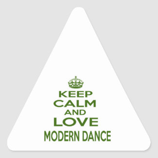 Keep Calm And Love Modern Dance Triangle Stickers