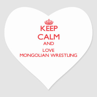 Keep calm and love Mongolian Wrestling Stickers