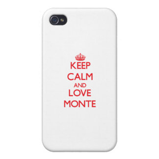 Keep Calm and Love Monte iPhone 4/4S Cover