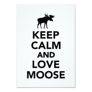 Keep calm and love Moose Personalized Invitation