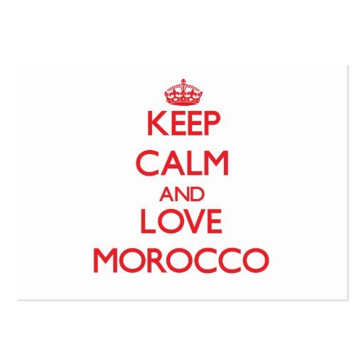 Keep Calm and Love Morocco Business Card