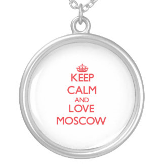 Keep Calm and Love Moscow Custom Necklace