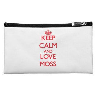 Keep calm and love Moss Makeup Bag
