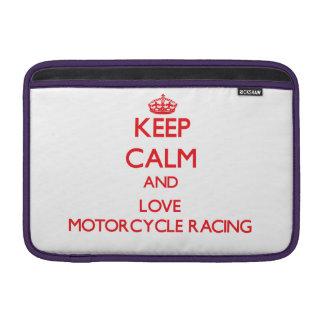 Keep calm and love Motorcycle Racing Sleeves For MacBook Air