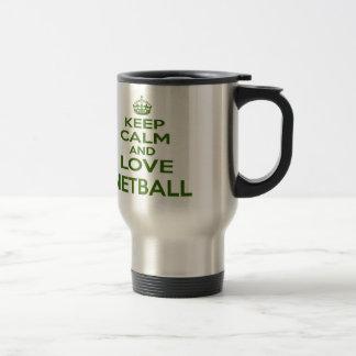 Keep Calm And Love Netball Mug