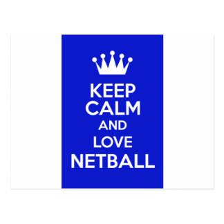 Keep Calm And Love Netball Postcard