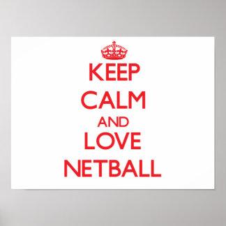 Keep calm and love Netball Print