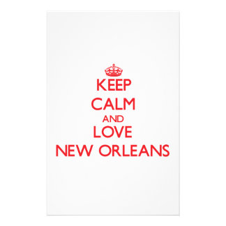 Keep Calm and Love New Orleans Stationery