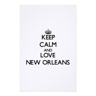 Keep Calm and love New Orleans Personalized Stationery