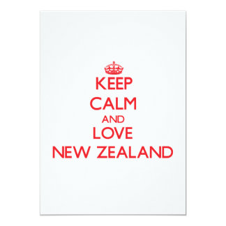 Keep Calm and Love New Zealand Personalized Announcement