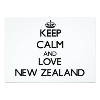 Keep Calm and Love New Zealand Personalized Invitation