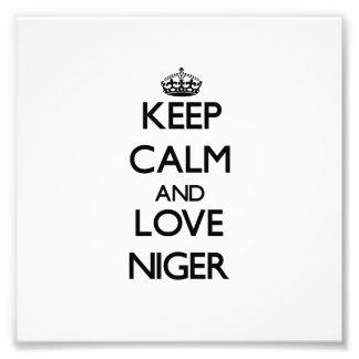Keep Calm and Love Niger Art Photo