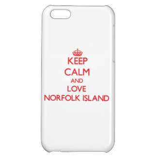 Keep Calm and Love Norfolk Island Cover For iPhone 5C