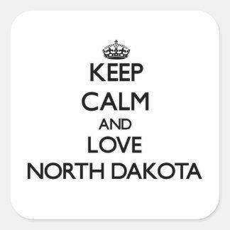 Keep Calm and Love North Dakota Sticker