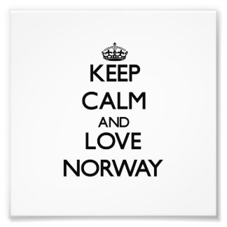 Keep Calm and Love Norway Photo Print