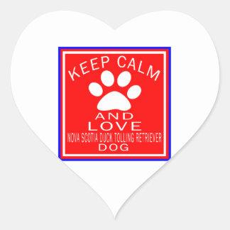 Keep Calm And Love Nova Scotia Duck Tolling Retrie Heart Sticker