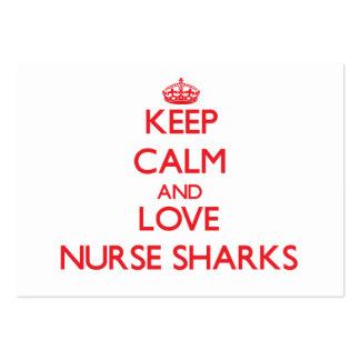 Keep calm and love Nurse Sharks Business Card