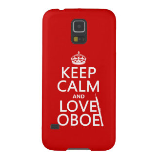 Keep Calm and Love Oboe (any background color) Galaxy S5 Covers
