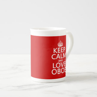 Keep Calm and Love Oboe (any background color) Tea Cup