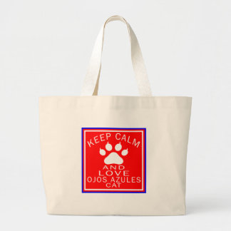 Keep Calm And Love Ojos Azules Tote Bags