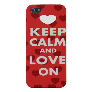 Keep Calm and Love On iPhone 5 Covers