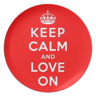 Keep Calm and Love On Plate