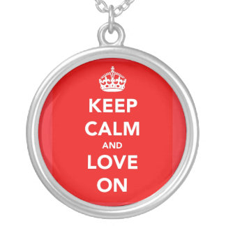 Keep Calm and Love On Valentine's Day Necklace