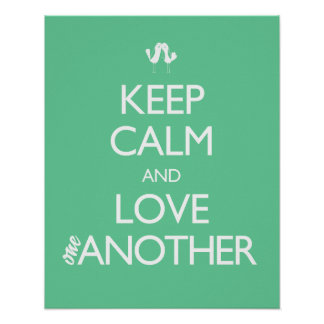 Keep Calm and Love One Another Love Birds Print