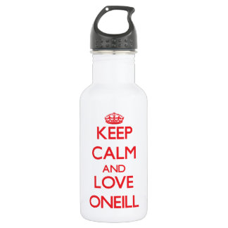 Keep calm and love Oneill 18oz Water Bottle