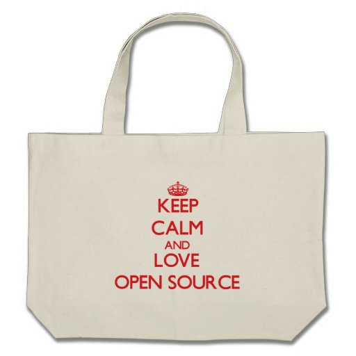 Keep calm and love Open Source Tote Bag