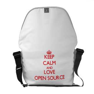 Keep calm and love Open Source Courier Bag