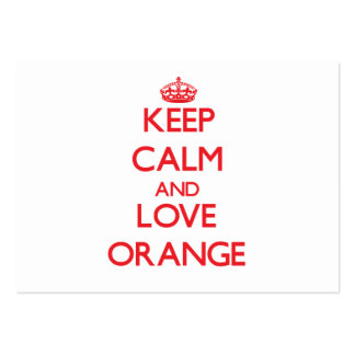 Keep Calm and Love Orange Pack Of Chubby Business Cards