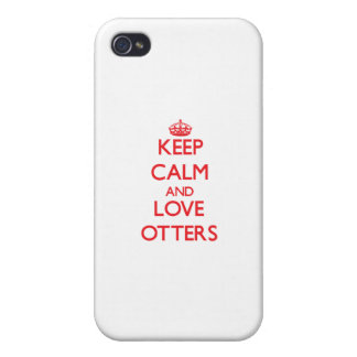 Keep calm and love Otters iPhone 4 Covers