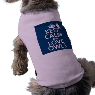 Keep Calm and Love Owls (any color) Shirt