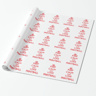 Keep calm and love Paintball Wrapping Paper
