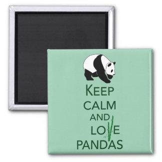 Keep Calm and Love Pandas Gift Art Print Magnet